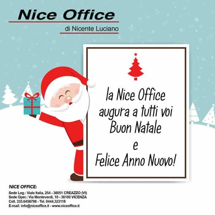 Buon Natale e Felice Anno Nuovo da Nice Office Vicenza